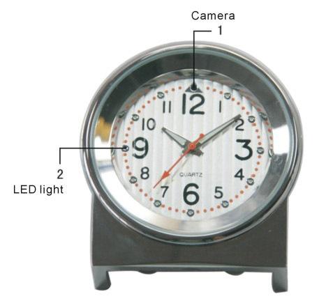 4GB Mini DV DVR špionážní kamera s fotoaparátem - stolní hodiny 4f376d5c84